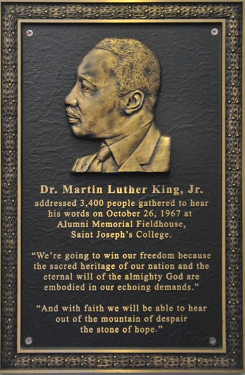 MLK_plaque_at_SJU_BLOG